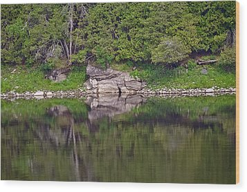Wood Print featuring the photograph French River Ontario Canada by Marek Poplawski