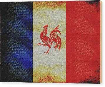 French Rooster Wood Print by Jared Johnson