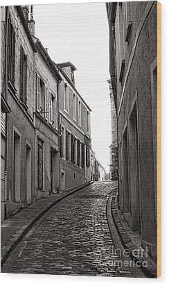 French Street Wood Print by Olivier Le Queinec