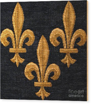 French Tapestry Wood Print