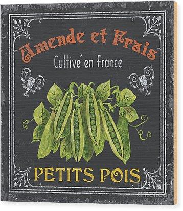 French Vegetables 2 Wood Print by Debbie DeWitt
