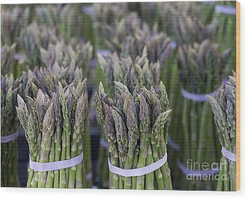 Fresh Asparagus Wood Print by Mike  Dawson