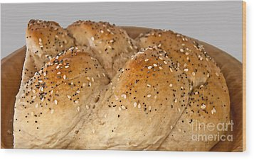 Fresh Challah Bread Art Prints Wood Print