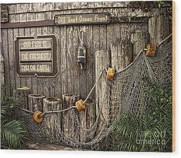 Fresh Fish Wood Print by Peggy Hughes