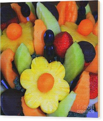 Fresh Fruit Wood Print by Kathleen Struckle