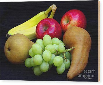 Fresh Fruit Two Wood Print by James C Thomas