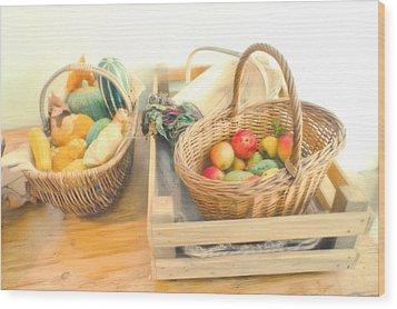 Fresh Harvest Wood Print by Tom Gowanlock