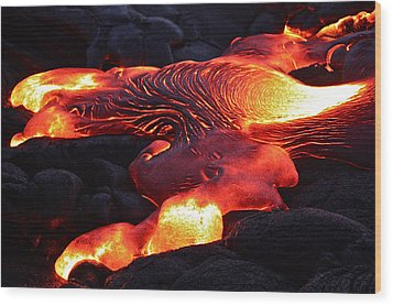 Fresh Lava Flow Wood Print by Venetia Featherstone-Witty