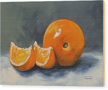 Fresh Orange IIi Wood Print