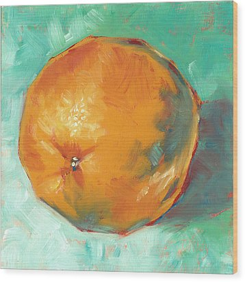 Wood Print featuring the painting Fresh Orange by Pam Talley