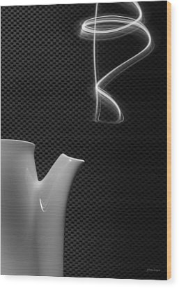 Wood Print featuring the photograph Fresh Pot Of Coffee- Light Painting by Steven Milner