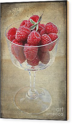 Fresh Raspberries Wood Print by Darren Fisher