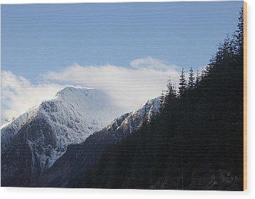 Fresh Snow Wood Print by Sylvia Hart