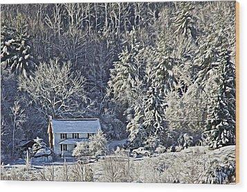 Fresh Snow Wood Print by Tom Culver