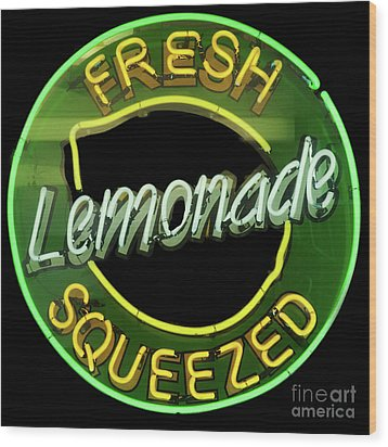 Fresh Squeezed Lemonade Wood Print by Michael Flood