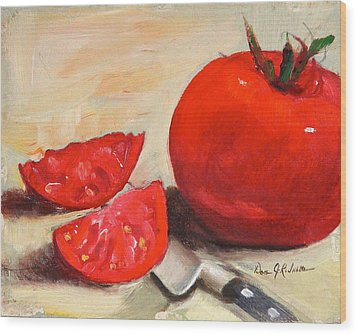 Fresh Tomatoes Wood Print