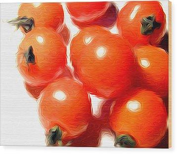Fresh Tomatos Wood Print by Stefan Petrovici