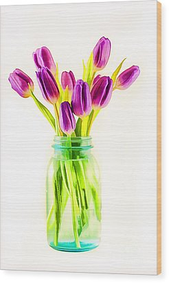 Fresh Tulips Wood Print by Darren Fisher