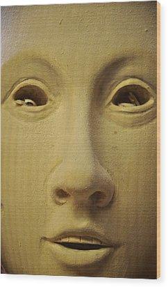 Freshly Carved Face Wood Print