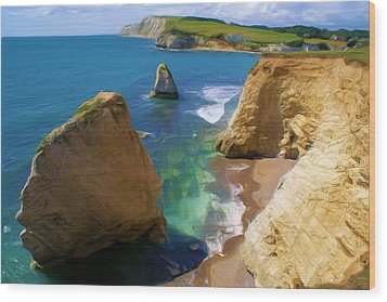 Wood Print featuring the digital art Freshwater Bay by Ron Harpham