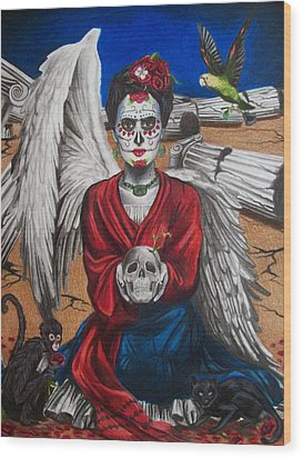 Frida Kahlo Wood Print by Amber Stanford