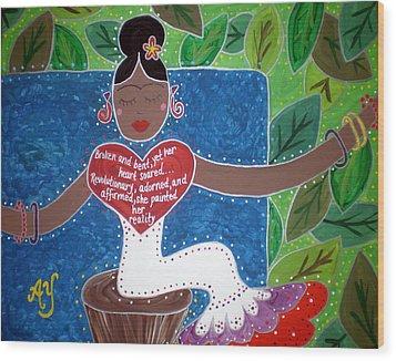 Frida Kahlo Wood Print by Angela Yarber