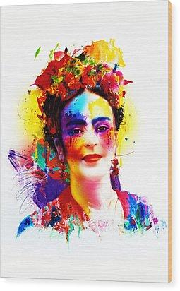 Frida Kahlo Wood Print by Isabel Salvador
