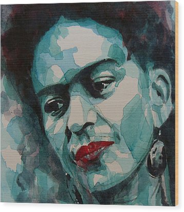 Frida Kahlo Wood Print by Paul Lovering