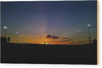 Friday Night Lights Wood Print by Chris Tarpening