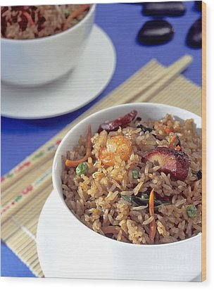 Fried Rice Wood Print by Tim Hester