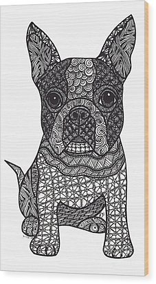 Friend - Boston Terrier Wood Print