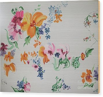 Friends Are Like Flowers Wood Print by PainterArtist FIN