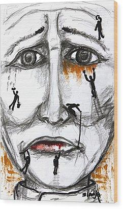 Friends In Need  Wood Print by Sladjana Lazarevic