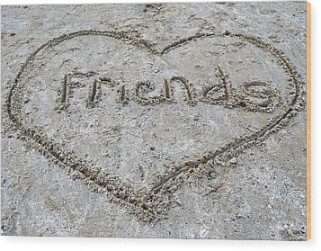 Friends Wood Print by Frozen in Time Fine Art Photography