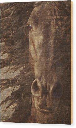 Friesian Spirit Wood Print