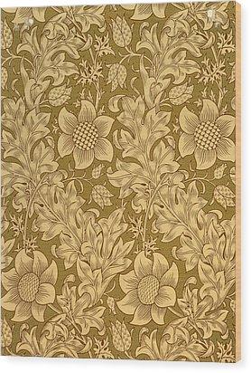 Fritillary Wallpaper Design Wood Print by William Morris