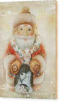 frohe Weihnachten Wood Print by Sharon Mau