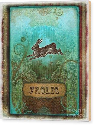 Frolic Wood Print by Aimee Stewart