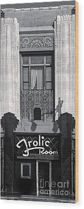 Frolic Room In Black And White Wood Print by Gregory Dyer