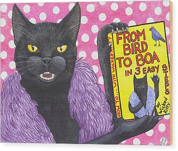 From Bird To Boa Wood Print by Catherine G McElroy