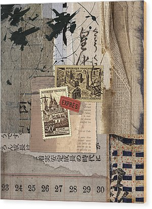 From Books Wood Print by Carol Leigh