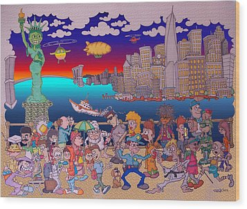 From Brooklyn With Love Wood Print by Paul Calabrese