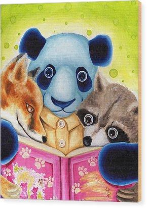 From Okin The Panda Illustration 10 Wood Print by Hiroko Sakai