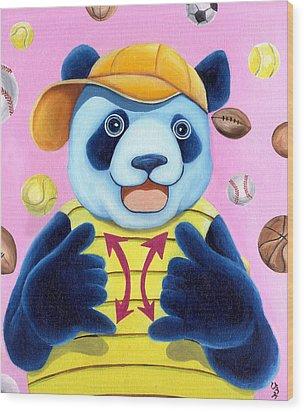 From Okin The Panda Illustration 14 Wood Print by Hiroko Sakai