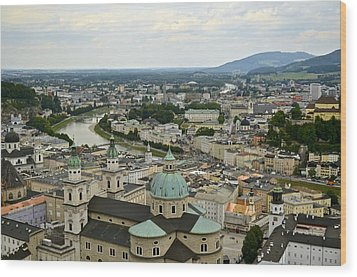 From Salzburg Castle Wood Print by Marty  Cobcroft