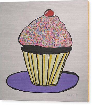 Wood Print featuring the painting From The Cupcake Cafe by John Williams