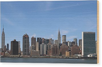 From The Empire State To The Un Wood Print by Jim Poulos