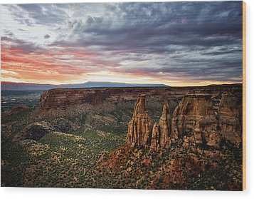 From The Overlook - Colorado National Monument Wood Print