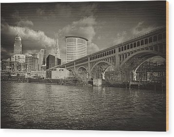 Wood Print featuring the photograph From The River Bank by Brent Durken