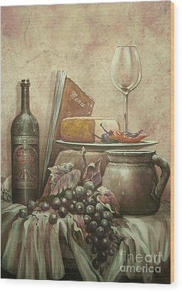 From The Vine Wood Print by Martin Lacasse